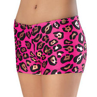 Leopard Animal Print Dance Shorts; Balera#