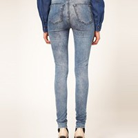 Just Female Vintage High Waisted Skinny Jeans at asos.com