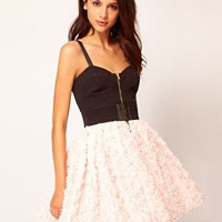 River Island Limited Edition Structured Dress With 3d Flowers at asos.com