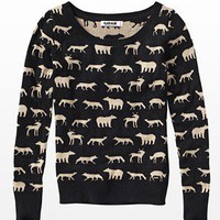 Animal Boatneck Sweater