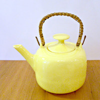 Vintage Retro Bright Yellow Ceramic Teapot by bergenhouse on Etsy