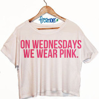 On Wednesdays Pink Crop Top | fresh-tops.com