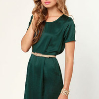 Sheath Will Be Loved Dark Teal Dress
