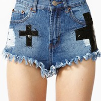 Trixie Cross Cutoff Shorts