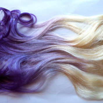 Dying Blonde Extensions Purple 85