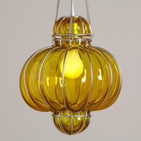 Yellow Glass Venetian Pendant