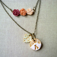 Newborn Letter Necklace - Set of 2