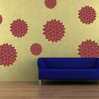 Vinyl Wall Decal Sticker Art -Whimsical Mums