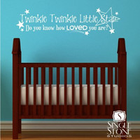 Twinkle Twinkle Little Star Wall Decal - Children&#x27;s Baby Vinyl Wall Decal Nursery Sticker
