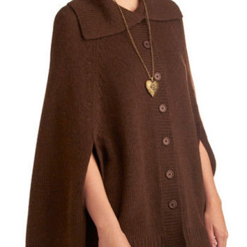French Toasty Cape | Mod Retro Vintage Sweaters | ModCloth.com