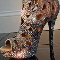 Paparazzi Crush - Custom-designed Swarovski crystal encrusted bootie