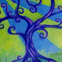 Framed Tree Art Tree of Life Sunshine Mixed Media by tarren