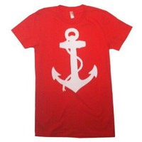 Amazon.com: Happy Family Nautical Anchor American Apparel Womens T-Shirt: Clothing