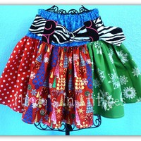 Whimsical Hallmark Christmas Twirl Skirt