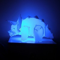 Triceratops DIYnosaur Lamp from Moedik | Made By Moedik | 29.95 | Bouf