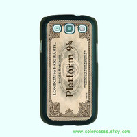 Samsung Galaxy S3 case --Hogwart Express Train Ticket Harry Potter, Samsung galaxy S3 case in plastic ,color in black or white or clear