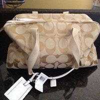 Coach Kyra Signature Duffle Overnight Bag NWT Authentic