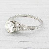 1.20 Carat Vintage Diamond Engagement Ring | Erstwhile Jewelry Co.