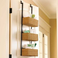 3 Tier Over-the-door Basket | Home Living | SkyMall