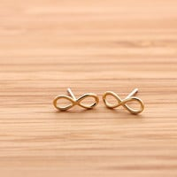 simple INFINITY stud earrings, 3 colors | girlsluv.it