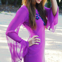 Swing My Way Dress: Bright Purple | Hope's