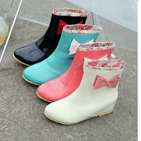 Botas Lluvia Kawaii Lazo / Rain Boots Cute Bow LS161 by Kawaii Clothing