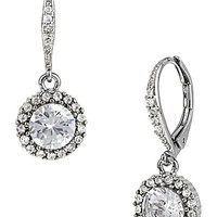 BetseyJohnson.com - PAVE CRYSTAL DROP EARRING CRYSTAL
