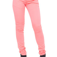 Bright Coral Skinny Jeans