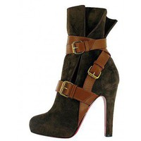 Guerriere 120 suede ankle boots &amp;#36;228,christianlouboutin,namely red bottom shoes,discount louboutins