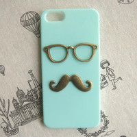 Steampunk Glasses Mustache hard case For Apple iPhone 5 case cover