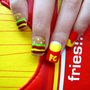 Yummy Cheese Burger Fast Food Nails