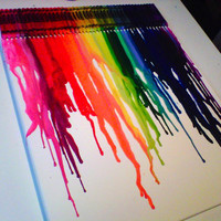 Melted Crayon Art 16x20' Canvas -  Includes tracking number