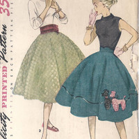 1950s Teen Age Skirt and Cummerbund Applique by MissBettysAttic
