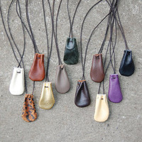 Ora Shop » crystal pouch necklaces - small