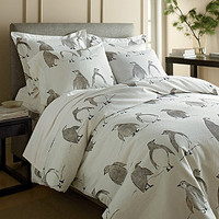 Penguin Parade Flannel Comforter Cover / Duvet Cover and Sham