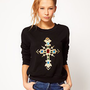 Hearts & Bows Jewel Cross Sweatshirt at asos.com