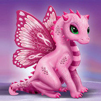 Breast Cancer Support Artistic Dragon Figurine Collection: On Wings Of Hope