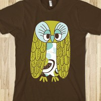 Skreened - cute t-shirt, cute owl t-shirt, cartoon owl