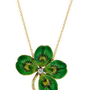 Doyle &amp; Doyle | Gift: Enamel &amp; Diamond Clover Necklace