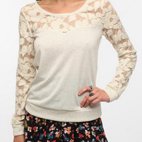 Kimchi Blue Sweet Tart Lace Sweatshirt