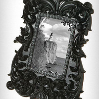 Noir Black Baroque Photo Frame