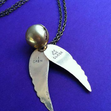 Harry Potter Snitch Necklace | Spiffing Jewelry