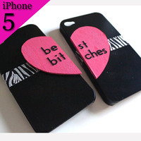 Best Bitches iPhone 5 cases - Black/Zebra