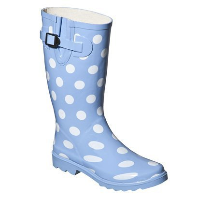 New Womens Polka Dot Rain Boots  QC Supply