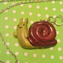 Adventure Time Waving Snail Necklace