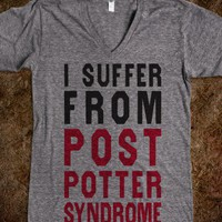 I Suffer From Post Potter Syndrome (V Neck) - Fun, Funny, &amp; Popular