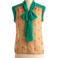 Cat Your Service Top | Mod Retro Vintage Short Sleeve Shirts | ModCloth.com