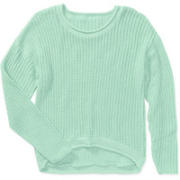Walmart: Women's Pastel Draped High Low Sweater