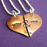 You & Me Heart Necklaces | Spiffing Jewelry