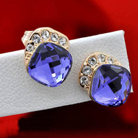 Princess Crystal Diamond Ear Stud for Women - gulleitrustmart.com